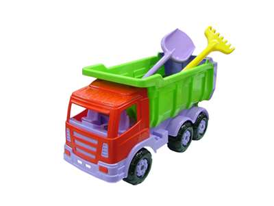 Изображение Премиум, автомобиль-самосвал + лопата большая, грабли большие
