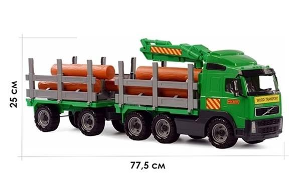 """Изображение """"Volvo"""", автомобиль-лесовоз с прицепом Арт.8725"""