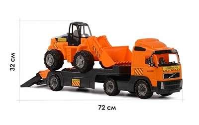 """Изображение """"Volvo"""", автомобиль-трейлер + трактор-погрузчик Арт.8831"""