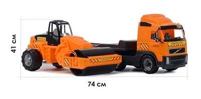 """Изображение """"Volvo"""", автомобиль-трейлер + дорожный каток Арт.8855"""