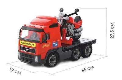 """Изображение """"Volvo"""", автомобиль-платформа + мотоцикл гоночный """"Байк"""" Арт.8770"""