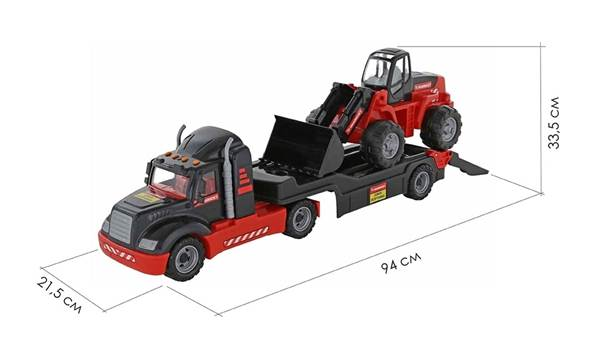 """Изображение 206-01 """"MAMMOET"""", автомобиль-трейлер + трактор-погрузчик Арт.56993"""