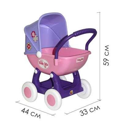 """Изображение Коляска для кукол """"Arina"""" 4-х колёсная  Арт. 48202"""