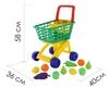 Изображение Тележка для маркета + набор продуктов №7 (10 элементов, зелёная) Арт. 61911