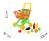 Изображение Тележка для маркета + набор продуктов №6 (19 элементов,оранжевая) Арт. 61904