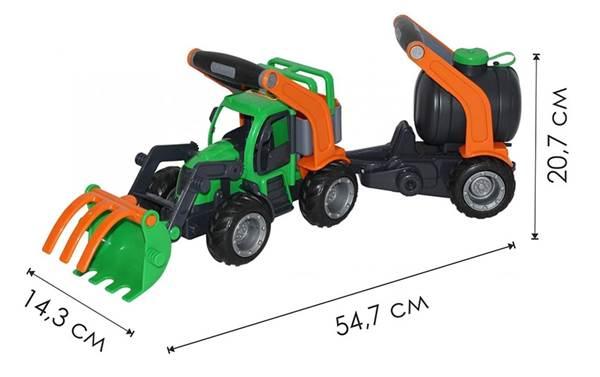 """Изображение """"ГрипТрак"""", трактор-погрузчик с цистерной Арт.48424"""