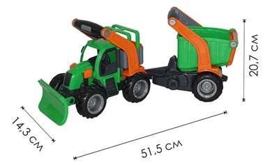 """Изображение """"ГрипТрак"""", трактор снегоуборочный с полуприцепом  Арт.48400"""