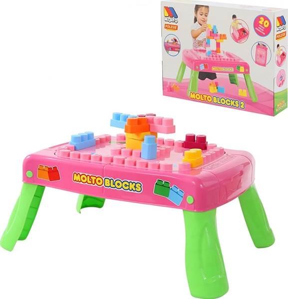 Изображение Набор игровой с конструктором (20 элементов) в коробке (розовый) с элементом вращения Арт. 58010