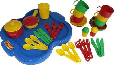 """Изображение Набор детской посуды """"Янина"""" с подносом на 6 персон Арт. 4077"""