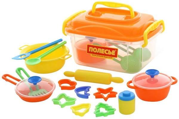 Изображение Набор детской посуды (20 элементов) (в контейнере) Арт. 56634