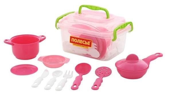 Изображение Набор детской посуды (35 элементов) (в контейнере) Арт. 56641