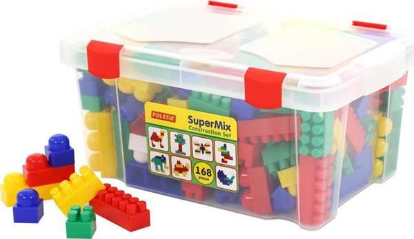 """Изображение Конструктор """"Супер-микс"""" (168 элементов) (в контейнере) Арт. 50601"""