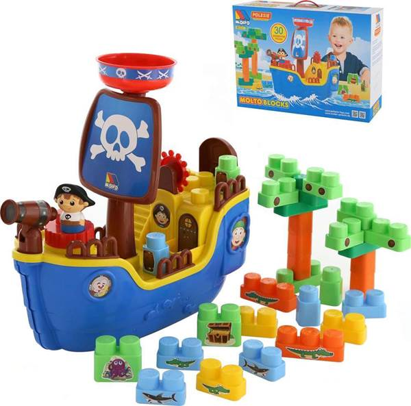 """Изображение Набор """"Пиратский корабль"""" + конструктор (30 элементов) (в коробке) Арт. 62246"""