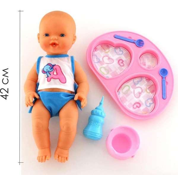 """Изображение Кукла """"Пупс"""": пьёт и ходит на горшок (с набором для кормления) Арт. 42226"""