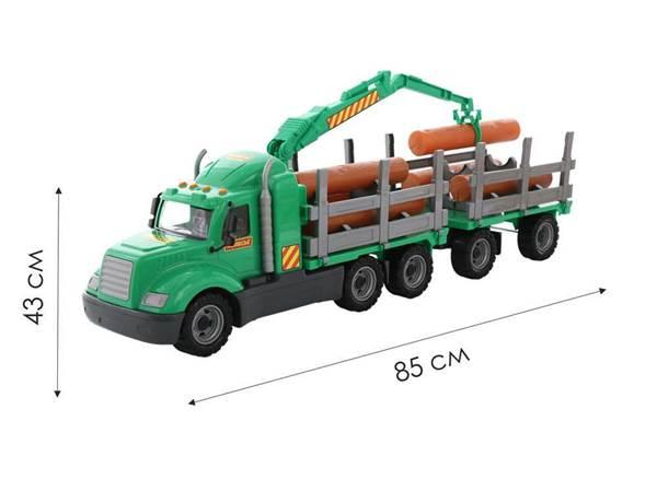"""Изображение """"Майк"""", автомобиль-лесовоз с прицепом Арт.55675"""