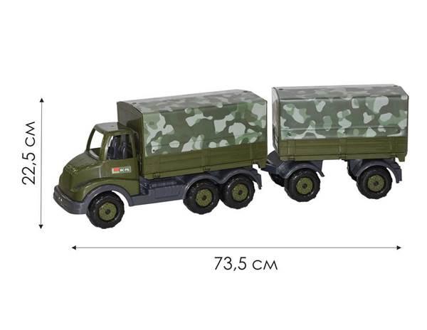 """Изображение """"Муромец"""", автомобиль бортовой тентовый военный с прицепом  Арт. 49100"""