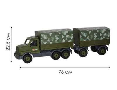 """Изображение """"Сталкер"""", автомобиль бортовой тентовый военный с прицепом (РБ)  Арт. 49209"""