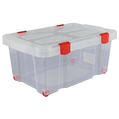 Изображение Ёмкость №51 для хранения на колёсиках с крышкой, 620х430х270 мм, 45 литров   Арт. 73235