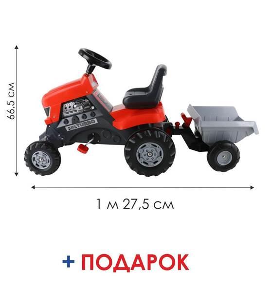 """Изображение Каталка-трактор с педалями """"Turbo"""" с полуприцепом Арт.52681"""