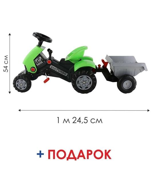 "Изображение Каталка-трактор с педалями ""Turbo-2"" Арт.52742"