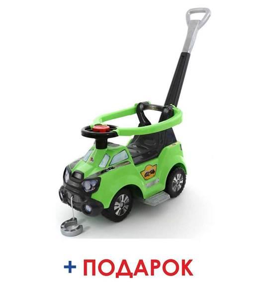 """Изображение Каталка-автомобиль """"Sokol"""" с ручкой, подножкой и ограждением Арт.48172"""