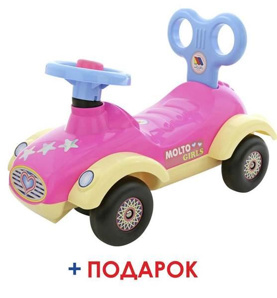 """Изображение Каталка-автомобиль для девочек """"Сабрина"""" (со звуковым сигналом) Арт. 7970"""