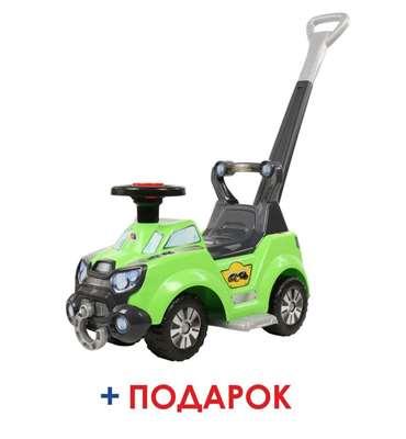 """Изображение Каталка-автомобиль """"Sokol"""" с ручкой и подножкой  Арт.48165"""