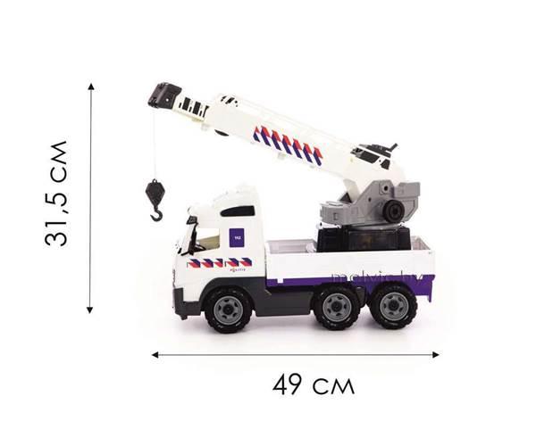 """Изображение """"Volvo"""", автомобиль-кран с поворотной платформой полицейский (NL) (в сеточке) Арт.77318"""