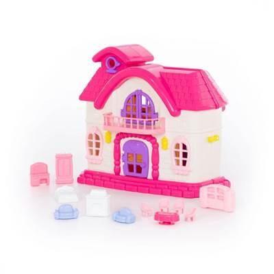 """Изображение Кукольный домик """"Сказка"""" с набором мебели (12 элементов) (в пакете) Арт. 78261"""
