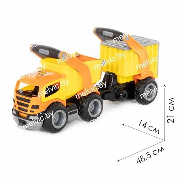 """Изображение """"ГрипТрак"""", автомобиль-самосвал с полуприцепом (в коробке) Арт. 37466"""