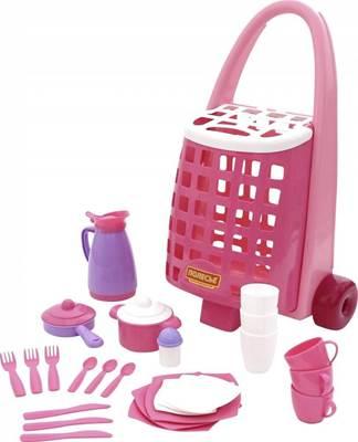 Изображение Забавная тележка + набор детской посуды (31 элемент) Арт. 44389