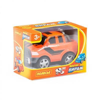 """Изображение """"Крутой Вираж"""", автомобиль гоночный №4 инерционный (оранжевый) Арт. 78940"""