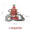 Изображение Паркинг 4-уровневый с дорогой и автомобилями, красный (в коробке) Арт.44723