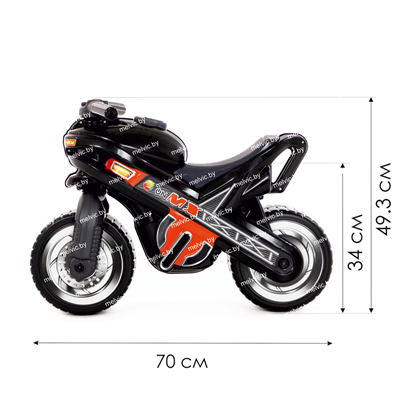"Изображение Каталка-мотоцикл ""МХ"" (чёрная) Арт. 80615"