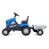 """Изображение Каталка-трактор с педалями """"Turbo"""" (синяя) с полуприцепом Арт.84637"""